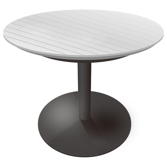 カフェテーブルのイラスト