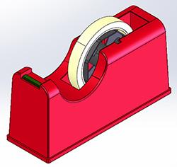 テープカッター 3D