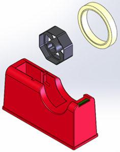 テープカッター モデリング