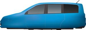 自動車のイラスト化の方法