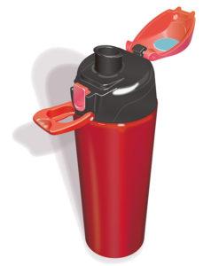 水筒のカラーイラスト