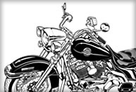 アメリカンバイクイラスト