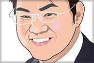 眼鏡の男性のイラスト
