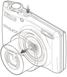 コンパクトデジタルカメラ操作方法イラスト
