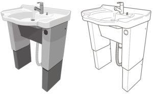 洗面台のイラストレーション