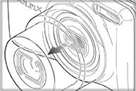 デジタルカメラ操作方法イラスト